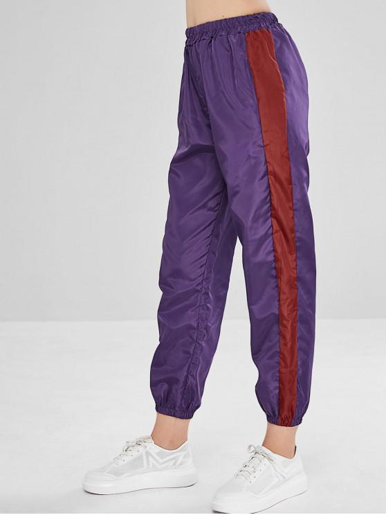 buy Swishy Joggers Track Pants - PURPLE IRIS XL