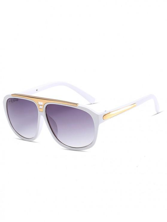 fancy Statement Hollow Out Frame Square Sunglasses - WHITE