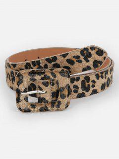 Vintage Leopard Pattern Embellished Dress Belt - Leopard