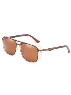 Stylish Crossbar Driving Holiday Sunglasses - Deep Brown