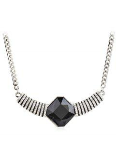 Fully Jewelled Pendant Design Necklace - Black