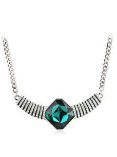 Fully Jewelled Pendant Design Necklace - Medium Turquoise