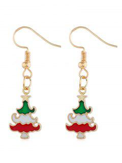 Alloy Design Christmas Tree Earrings - Gold