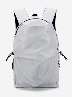 Unpatterned Design Student Backpack - Light Gray