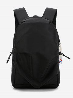 Unpatterned Design Student Backpack - Black