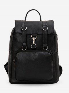 PU Large Capacity Design Backpack - Black