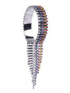 Statement Rhinestoned Tassel Design Bracelet - Multi