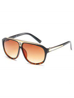 Statement Hollow Out Frame Square Sunglasses - Sandy Brown