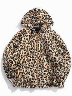 Leopard Soft Faux Fur Quilted Jacket - Leopard L