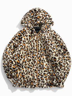 Leopard Soft Faux Fur Quilted Jacket - Leopard Xl
