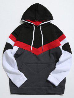 Casual Pouch Pocket Pullover Graphic Hoodie - Dark Gray L
