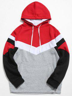 Casual Pouch Pocket Pullover Graphic Hoodie - Light Gray M