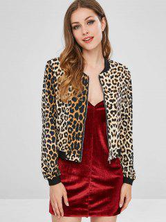 ZAFUL Leopard Chaqueta De Cremallera - Leopardo S