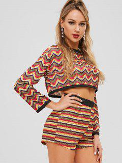 Zigzag Two Piece Set - Multi M