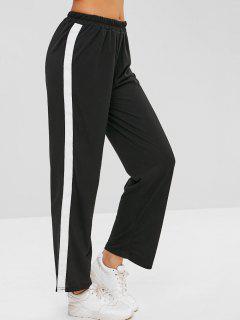 Tire De Los Pantalones De Pierna Recta - Negro Xl
