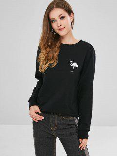Ostrich Pattern Sweatshirt - Black Xl