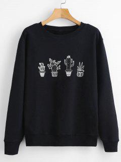 Cactus Graphic Sweatshirt - Black S