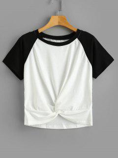 Tee-shirt Bicolore Torsadé - Blanc L