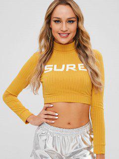 SURE Camiseta Recortada - Amarillo De Sol  S