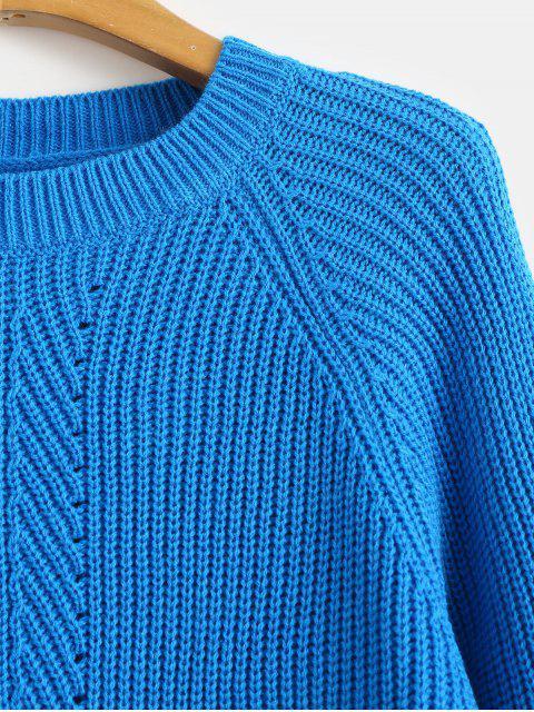 ラグランスリーブアイレットセーター - ドジャーブルー M Mobile