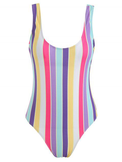 Bañador de una pieza ZAFUL Rainbow Stripe - Multicolor M Mobile