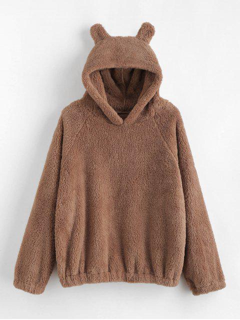 shops Cat Ear Fleece Pullover Hoodie - CAMEL BROWN S Mobile