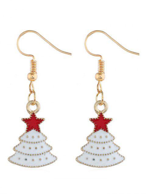 buy Snowy Christmas Tree Design Drop Earrings - GOLD  Mobile