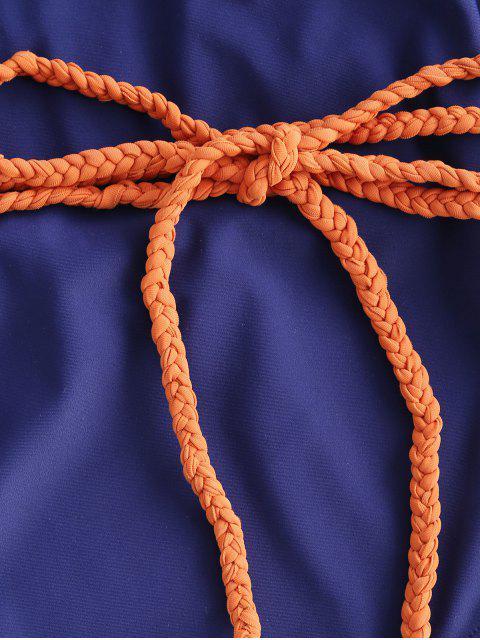 Bañador de una pieza con cinturón trenzado ZAFUL - Lapislázuli L Mobile