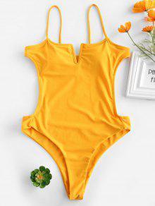 ZAFUL السامي قص عارية الذراعين ثونغ ملابس السباحة - نحلة صفراء L