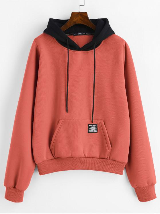 fb14338217f7 52% OFF   HOT  2019 ZAFUL Pouch Pocket Fleece Pullover Hoodie In ...
