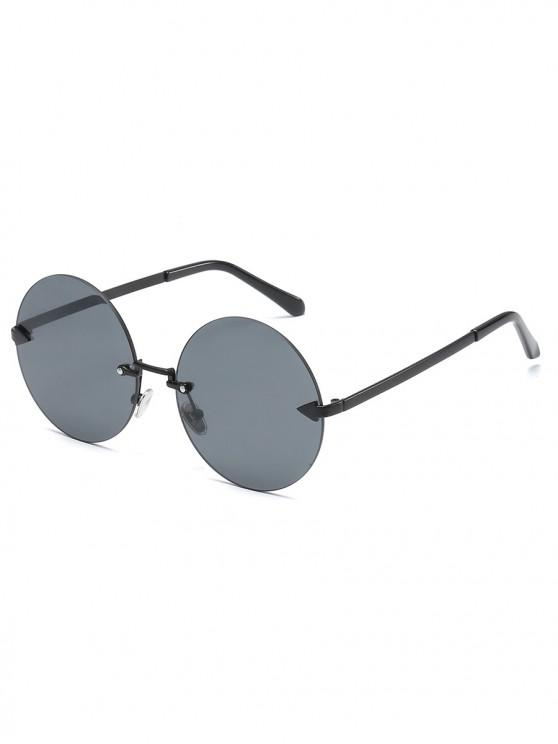 outfits Unique Rimless Flat Lens Sunglasses - BLACK