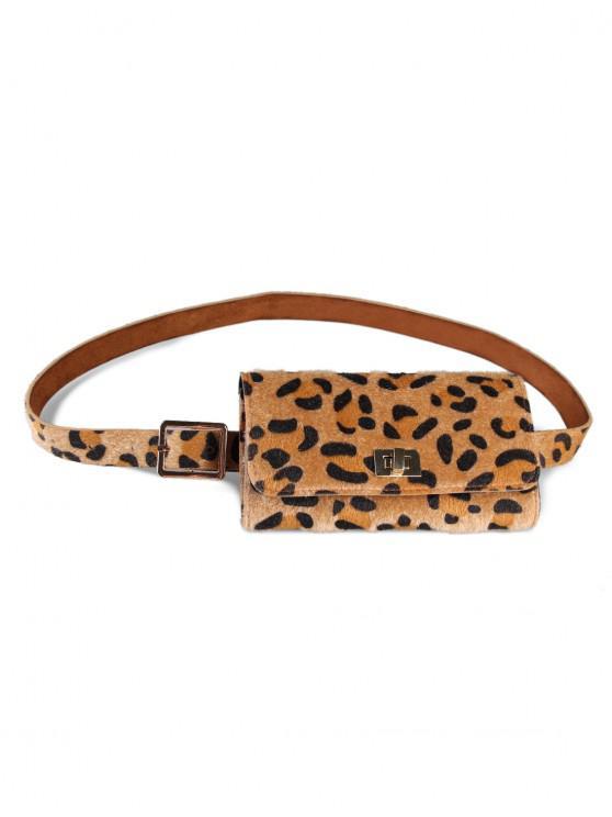 sale Leopard Pattern Fanny Pack Waist Belt Bag - LIGHT BROWN