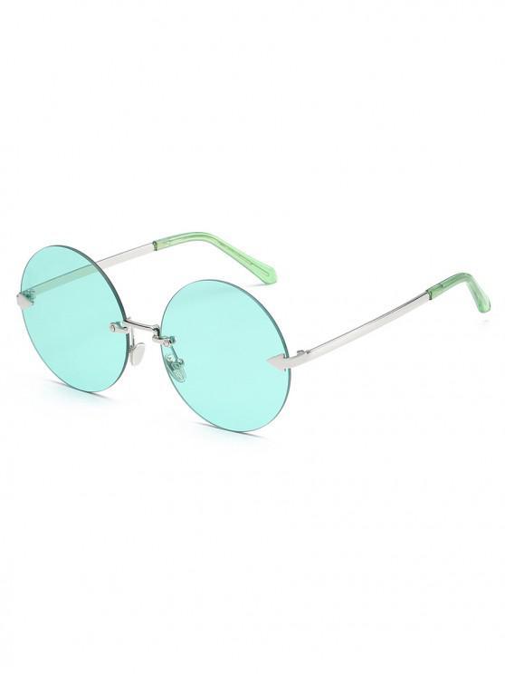 women Unique Rimless Flat Lens Sunglasses - MEDIUM TURQUOISE