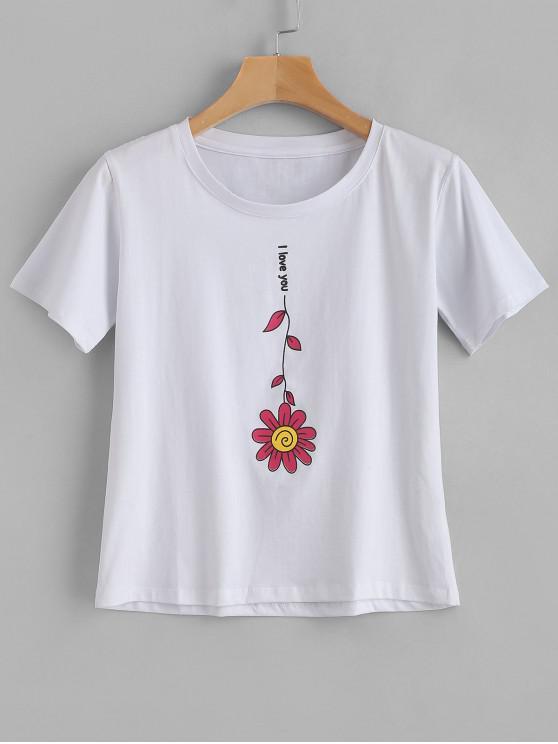 T-Shirt Grafica - Bianca L