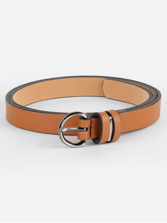 Simple Artificial Leather Skinny Waist Belt - الجمل الجمل