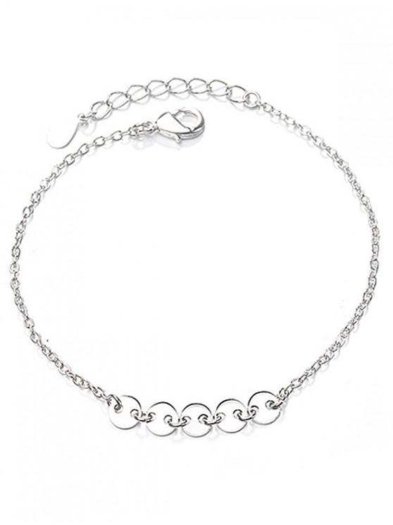 fancy Geometric Circle Shape Bracelet - SILVER