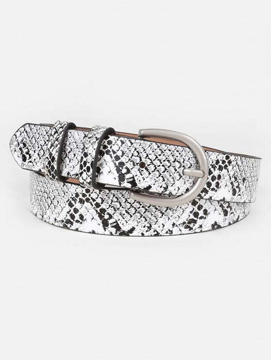 unique Simple Snake Pattern Artificial Waist Belt - GRAY