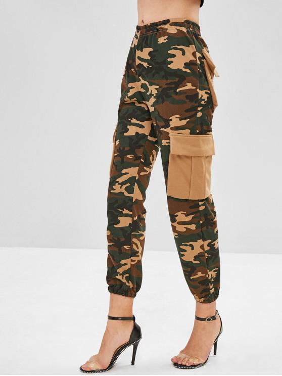 affordable Camo Pockets Jogger Pants - ACU CAMOUFLAGE M