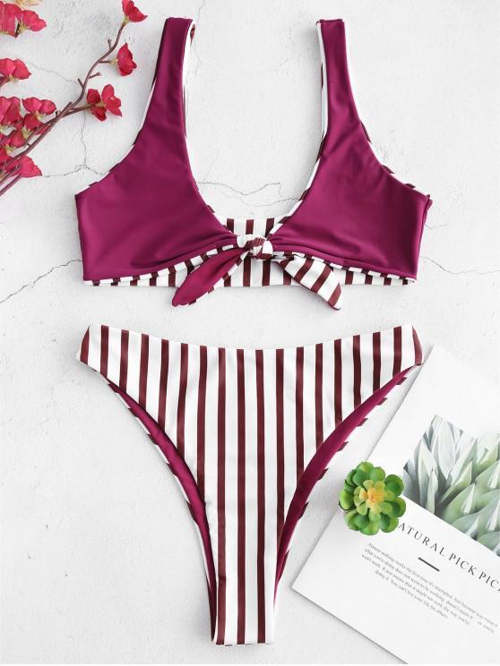Bikini Annodato A Righe Di ZAFUL - Multi Colori-A S