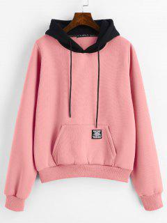 ZAFUL Pouch Pocket Fleece-Kapuzenjacke - Pink M
