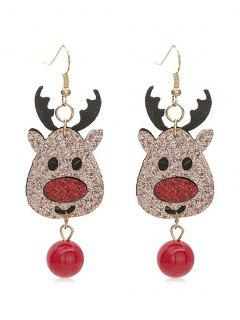 Christmas Deer And Ball Decoration Drop Earrings - Multi-a