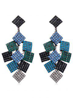 Fully Jewelled Tassel Design Drop Earrings - Multi