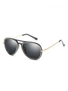 UV Protection Crossbar Pilot Sunglasses - Black
