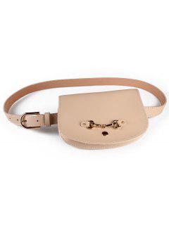 Retro Pin Buckle Fanny Pack Belt Bag - Apricot