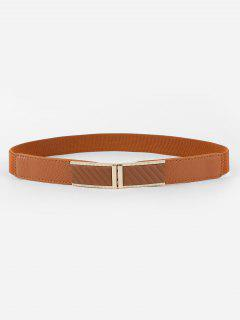 Retro Solid Color Stretchy Pants Belt - Brown