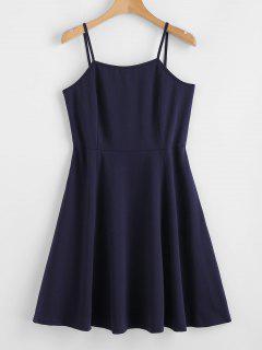 ZAFUL Criss Cross Cami Mini Dress - Midnight Blue S