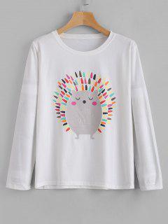Camiseta Linda Del Erizo De Manga Larga - Blanco M