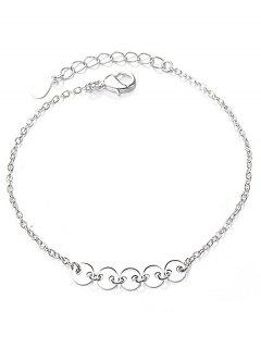 Geometric Circle Shape Bracelet - Silver