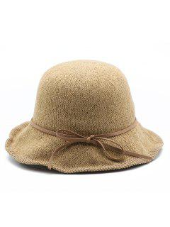 Bowknot Solid Color Holiday Hat - Khaki