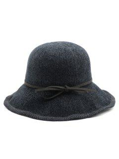 Bowknot Solid Color Holiday Hat - Black